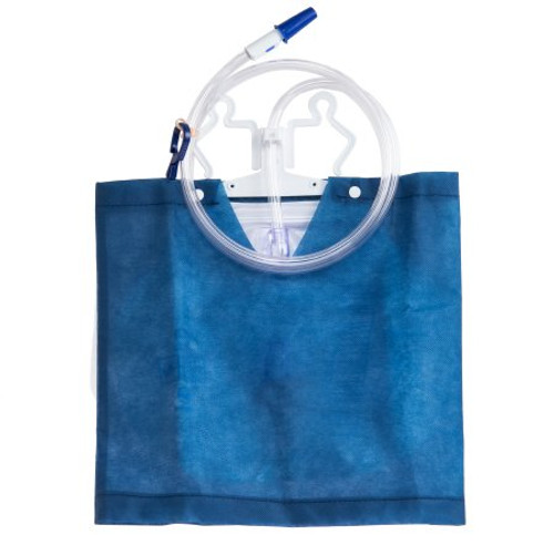 Discreet Urinary Drain Bag w/ Anti-Reflux Valve (2000 mL) from McKesson is designed to discreetly fit inside the included non-woven cover for patient privacy. Durably constructed for odor containment and leak resistance, and features an anti-reflux drip chamber with valve and air vent.