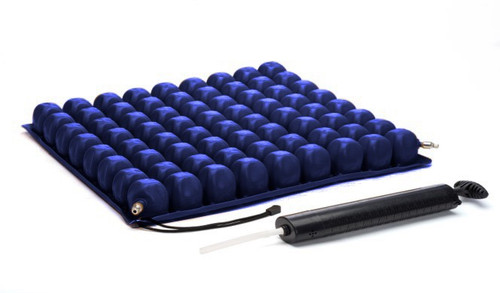 "The Protekt O2 wheelchair cushion, 2""H is used for the prevention and treatment of pressure sores."