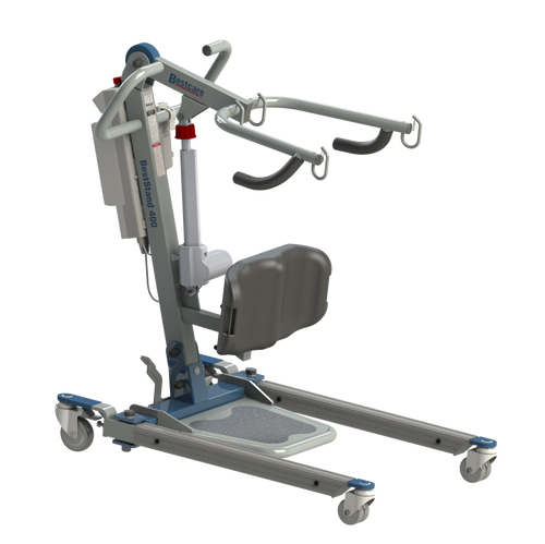 BestCare's BestStand SA400 Sit-To-Stand Powered Patient Lift has a wide lifting range and is more compact than most sit-to-stand patient lifts.