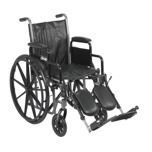 """Drive Medical Silver Sport 2 Wheelchair - 16""""& 18"""" Seat"""