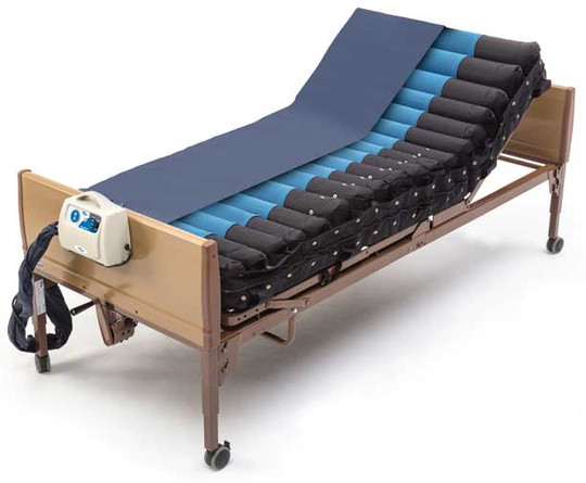 "Invacare's microAIR MA500 Alternating Pressure Mattress System with Low Air Loss reduces interface pressure to aid in the prevention and treatment of low to medium risk pressure ulcers, often referred to as ""bed sores."" *Bed sold separately."