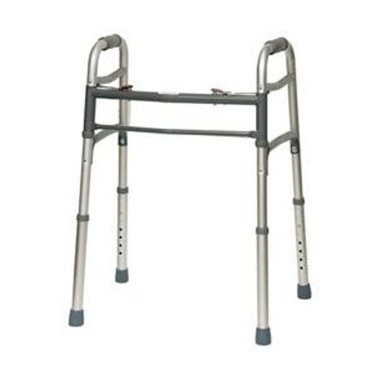 """Deluxe Two-Button Folding Walker, 25"""" to 32"""" Height"""