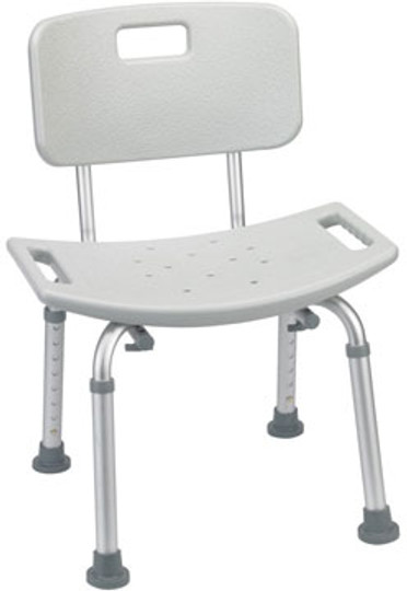 The Drive RTL12202KDR Bath Bench & Shower Seat shown with optional Back.
