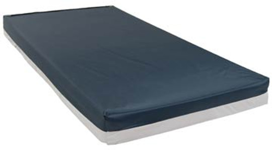 Drive Medical's Bariatric high-density foam mattresses are designed to provide comfortable support for the bariatric patient. The high density foam is covered with a fluid-resistant zippered nylon top cover and waterproof vinyl bottom.