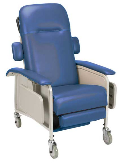 Drive Clinical Care Recliner D577 shown in Blue Ridge is also available in Rosewood and Jade | Available at NewLeafHomeMedical.com