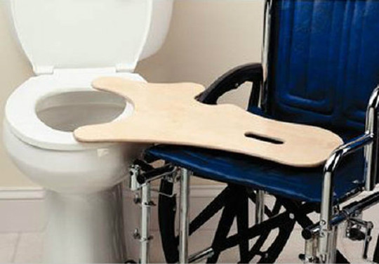 Commode Transfer Board, Birch Wood, Weight Capacity 400 lbs