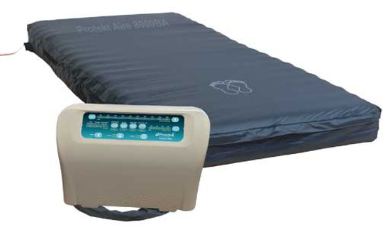 The Protekt Aire 8000 Alternating Pressure Bariatric Mattress System come complete with mattress and 16 LPM (liters per minute) pump.