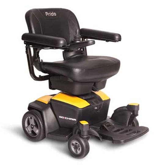 Go-Chair Portable Power Chair by Pride Mobility (Citrine Yellow)