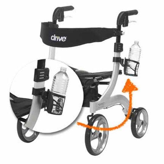 Drive's Cup Holder 10266-CH is exclusively fits all Nitro model rollators. Securely hold your cup or bottle with ease.
