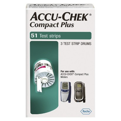 Accu-Chek Compact Plus Blood Glucose Test Strips (Box of 51)