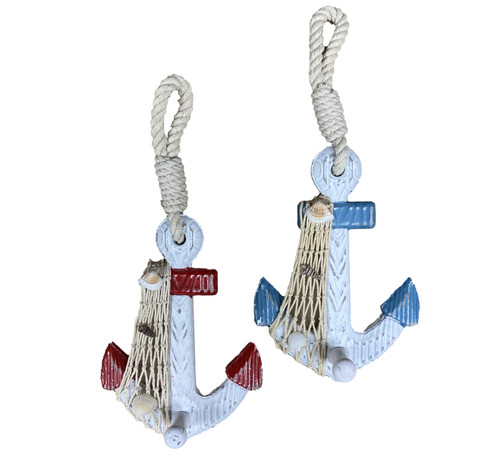 Anchor Wall Hooks Nautical Seasons 866-888-2628