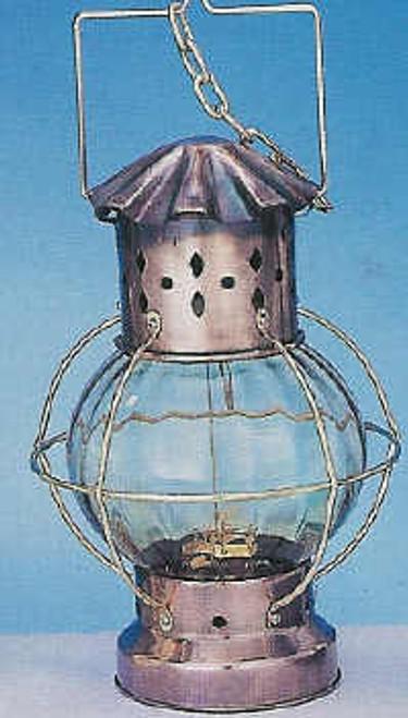 Antiqued Hanging Round Nautical Lantern #3353