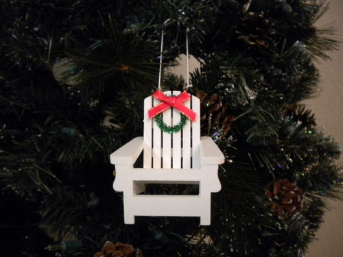 Beach Chair Christmas Ornament  Nautical Seasons