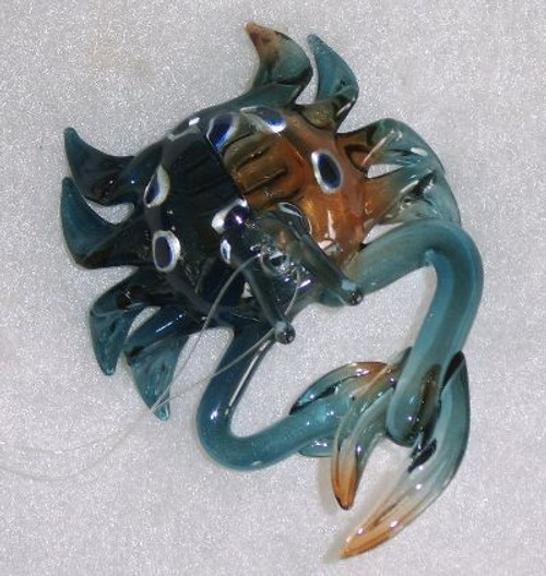 Glass Blue Crab Ornament Nautical Seasons