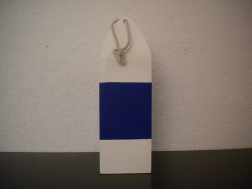 White Buoy with Blue Stripe #15204