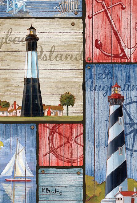 Lighthouse  Flag Paul Brent Nautical Seasons