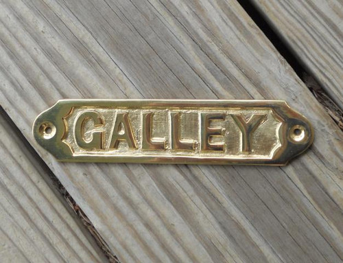 Brass Boat Galley Sign #3683