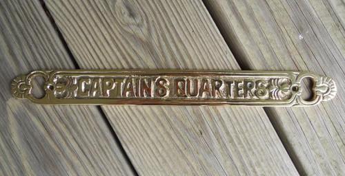 Captains Quarters Brass Sign #3208