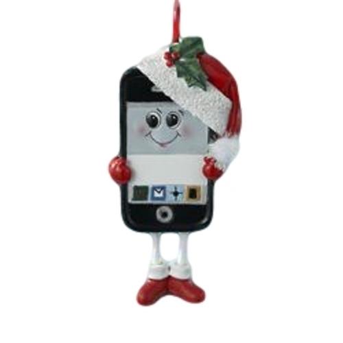 Smart Phone Santa Ornament  Nautical Seasons