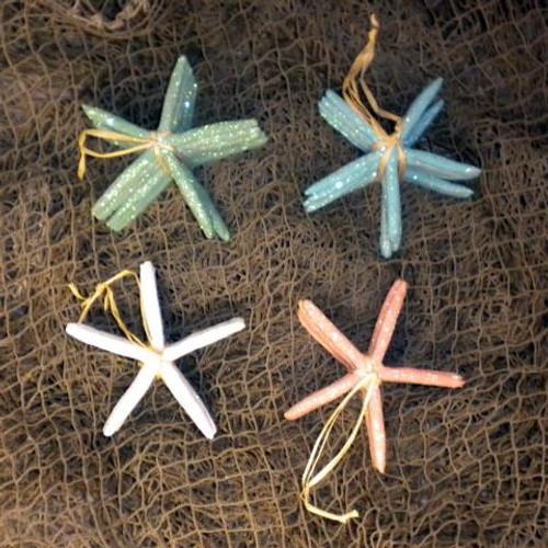 Glitter Starfish Choose Color Pink, Coral, Blue, Green 6  Nautical Seasons
