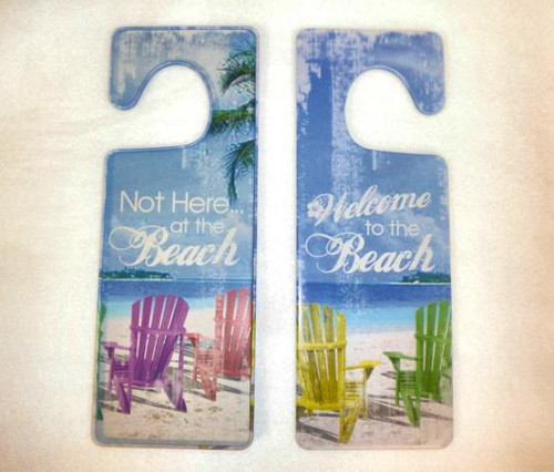 Two Sided Beach Door Hanger #14157