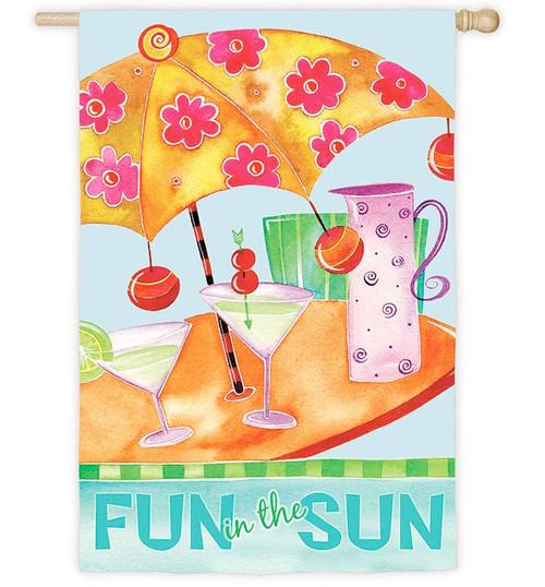 Beach Umbrella Martini Design Flag #7509