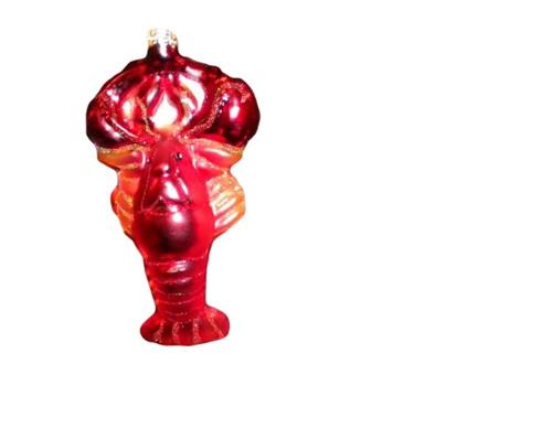 Lobster Blown Glass Ornament  Nautical Seasons