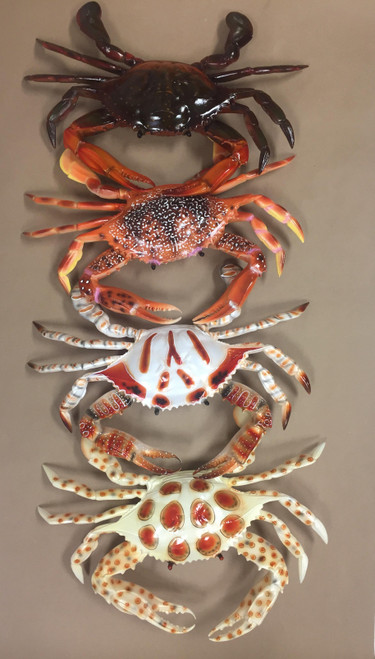 Painted Wall Crab Large  Nautical Seasons