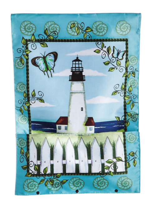 Lighthouse Bloom Pocket Garden Flag  #15194