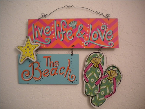 Beach Flip Flop Love The Beach Sign Nautical Seasons