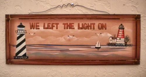 Lighthouse Sign Nautical Seasons
