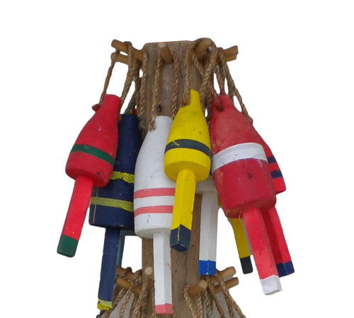 Vintage Cedar Buoys Nautical Seasons