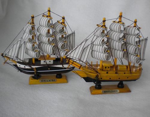 "Model Ships Mayflower & Belem 6"" Choose Design  Nautical Seasons"