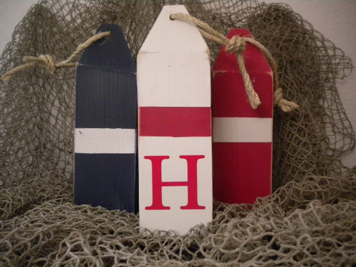 Personalized Buoy Red Blue Nautical Seasons
