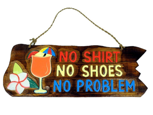 No shirt no shoes tiki bar sign Nautical Seasons