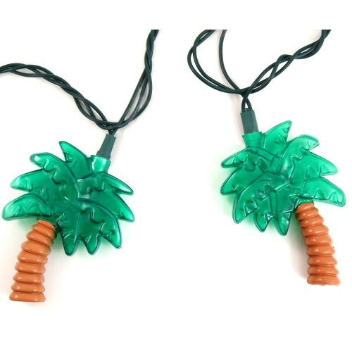 Palm Tree String Lights Nautical Seasons
