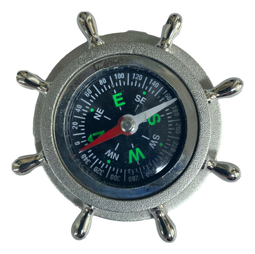 Silver Colored Desk Compass  Nautical Seasons 866-888-2628