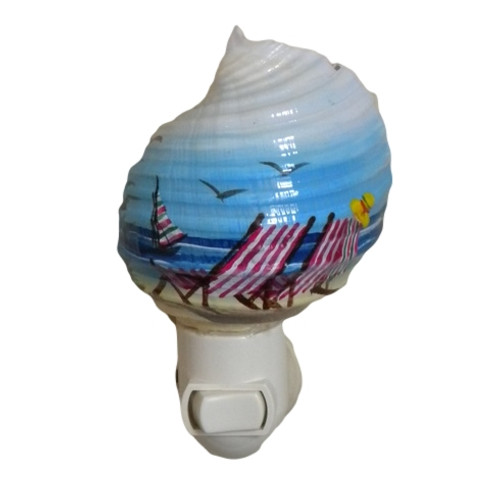 Beach Chair Night Light Nautical Seasons