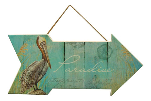 Pelican Paradise Pelican Sign  Nautical Seasons