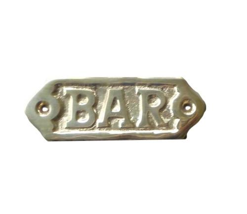 Bar Brass Sign  Nautical Seasons