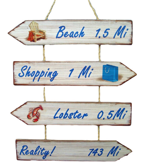 Beach Shop, Lobster Reality Wall Sign  Nautical Seasons 866-888-2628