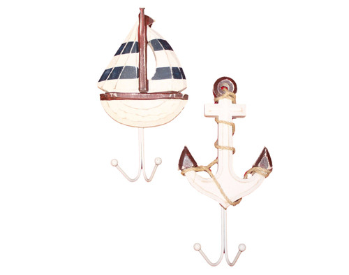 Anchor Sailboat Wall Hooks Nautical Seasons