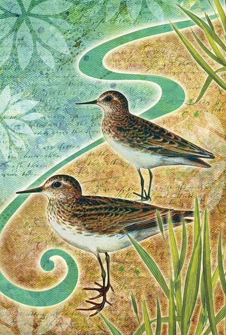 Sandpiper Sea Birds Garden Flag  Nautical  Seasons