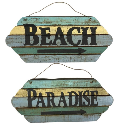 Beach or Paradise Rustic Sign Nautical Seasons