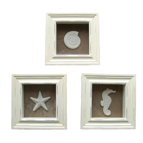 Sea life Frames Set of 3 Nautical Seasons
