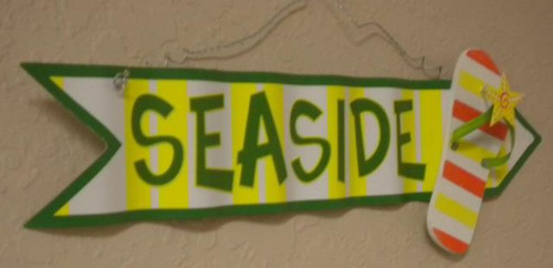 Sea Side Flip Flop Arrow Sign #2503