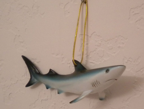 Shark Christmas Holiday Ornament Or Use Year 'Round #14245