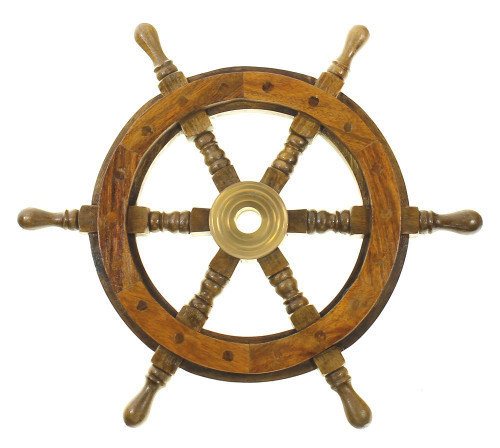 "Ships Wheel 18"" Nautical Seasons"