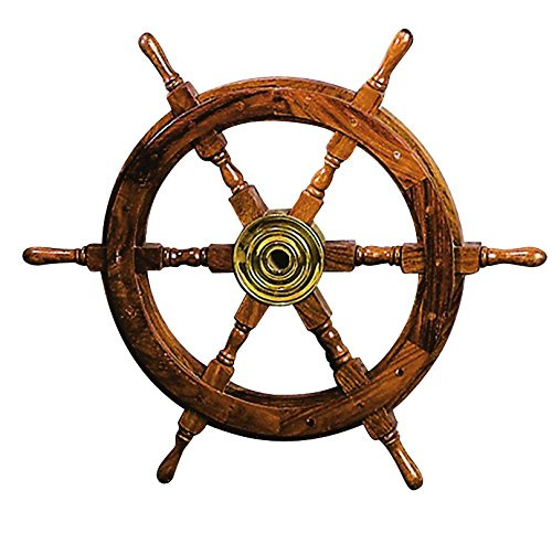 "Wooden Ships Wheel 24"" Nautical Seasons"