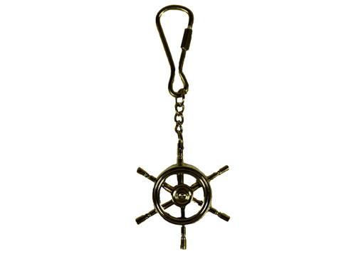 Ships Wheel Keychain  Nautical Seasons